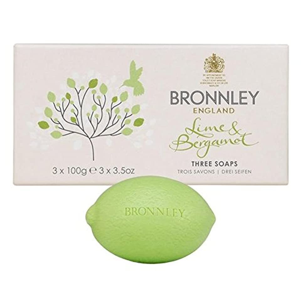 統計お風呂を持っている天窓Bronnley Lime & Bergamot Soap 3 x 100g - ライム&ベルガモット石鹸3×100グラム [並行輸入品]