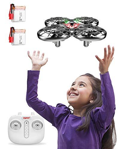 SYMA Drone per bambini controllato a mano, mini drone con 2 batterie, drone quadricottero per bambini con altezza elevata, modalità senza testa, flips 3D e 2 modalità di velocità per bambini