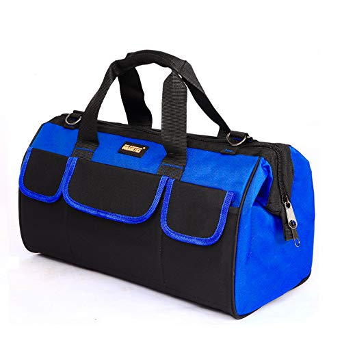 FASTECH 19 Inch Heavy Duty Tool Bag with Wide Mouth for Tool StorageCarrier and OrganizerTool Bag for Men Wide Mouth Tool Bag with Inside Pockets 19 inch