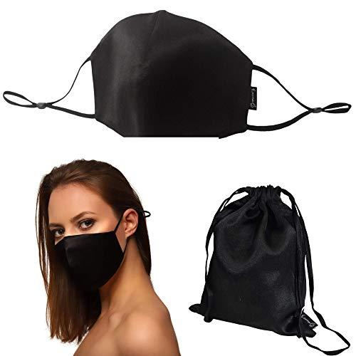 PREMIUM Baaw-Me Seidenmaske PREMIUM Baaw-Me Seidenmaske | 100 % Seidenmaske | schwarzer Seiden mundschutz