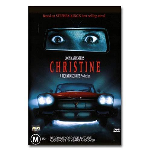 Christine 1983 Vintage clásico cartel de película lienzo impresión pintura arte de pared para sala de estar dormitorio decoración-50x70cm sin marco