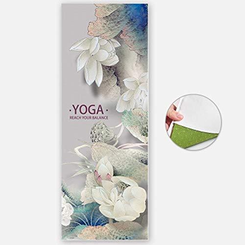 QXbecky Estera de Yoga Imagen de Yoga Mat Toalla Cubierta Plegable Antideslizante portátil Gruesa Yoga Pilates Mat Manta Toalla Cubierta Fitness Gimnasio Deportes Manta Manta