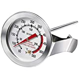BOHK Handy 5 Inch Probe Deep Fry Meat Turkey Thermometer with 2 Inch Dial Stainless Steel for BBQ...