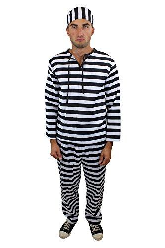 Wig Me Up - Costume Pour Homme : Prisonnier, Criminel, Bagnard - Taille : 56