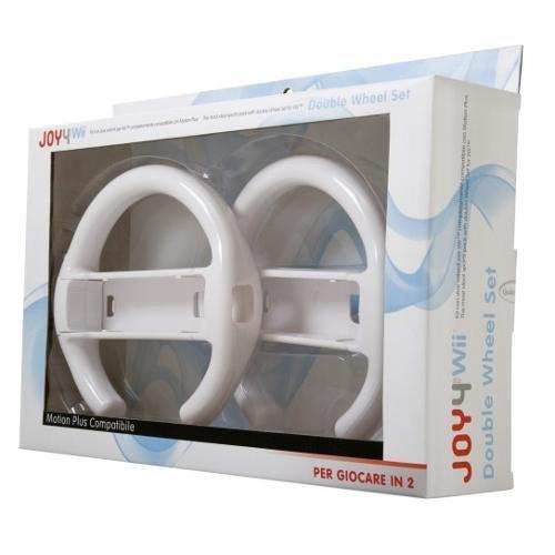 2 x Volante Da Corsa per Remote controller Nintendo Wii/ Wii U Mario Kart - 2 Pezzi Joy4 JW07