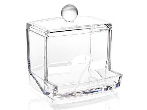 Wattestäbchen-Behälter mit Spenderfach zur Entnahme der Wattestäbchen | Wattestäbchen-Box