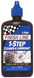 Finish Line 1-Step Bicycle Chain Cleaner & Lubricant 4oz Squeeze Bottle by Finish Line