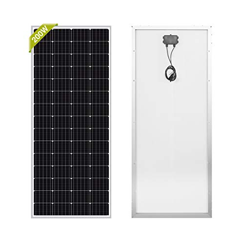 Newpowa 200W 12V Monocrystalline Off-Grid RV Solar Panel