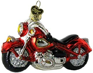 Old World Christmas Ornaments: Motorcycle Glass Blown Ornaments for Christmas Tree