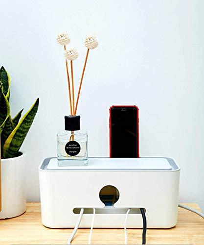 Kabelafwerkingsdoos, creatieve thuis multifunctionele brand ABS kunststof opbergdoos, desktop netwerkkabel met afwerkingslijndoos
