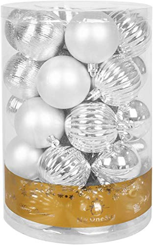 No One&U Christmas Balls Ornaments for Xmas Christmas Tree,Shatterproof Christmas Tree Decorations Hanging Ball Set for Holiday Wedding Party Decoration 2.4Inch x 34 Pack