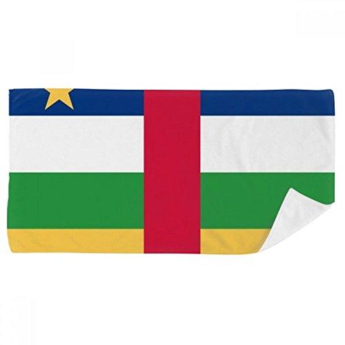 DIYthinker Zentralafrikanische Republik National Flagge Afrika Land Badetuch weichen Waschlap Kulli Waschlap Kulli 35X70Cm 35 x 70cm Mehrfarbig