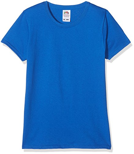Fruit of the Loom Mädchen T-Shirt Valueweight, 5-er pack, Blau (Royal Blue 51), Gr. 9-11 Jahre (140 cm)