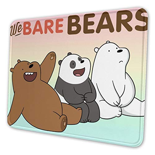 We Bare Bears Mouse Pad Seam Texture Mouse Pad Computer Mouse Pad Natural Non-Slip Rubber Base Notebook Mouse Computer Mouse 10 x 12 inch