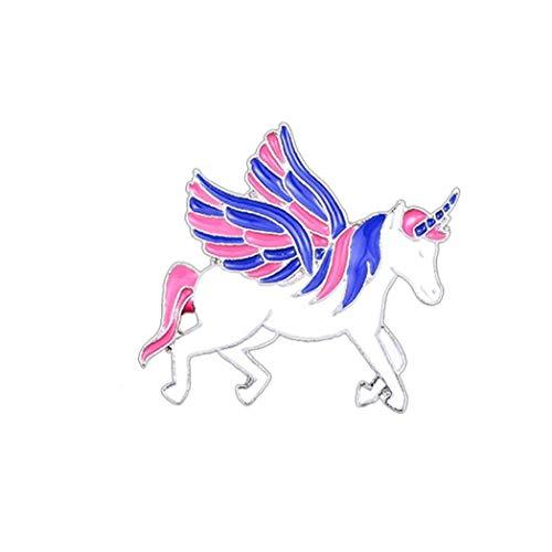 Suministros Unicornio Mítico Broche del Arco Iris De Colores De Esmalte De La Solapa del...