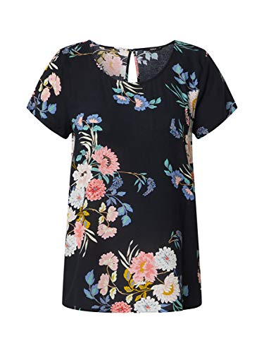 ONLY Womens ONLFIRST ONE Life SS AOP TOP NOOS WVN Blouse, AOP:Charlotte Flower Night Sky, 40
