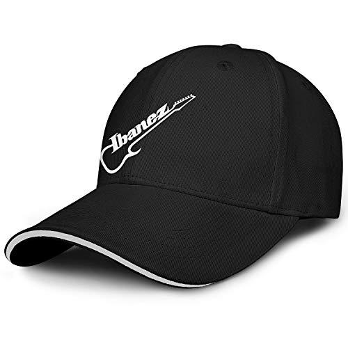 Unisex Baseball Hats Cap Trucker Cap Ibanez-Guitar-Logo- Fashion Snapback Dad Hats Sandwich Hat