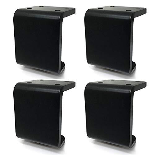 Modern meubilair bank benen boekenkast voeten voor bank tafel kast bed mat zwart en helder zilver afwerking, inclusief montage schroeven, set van 4