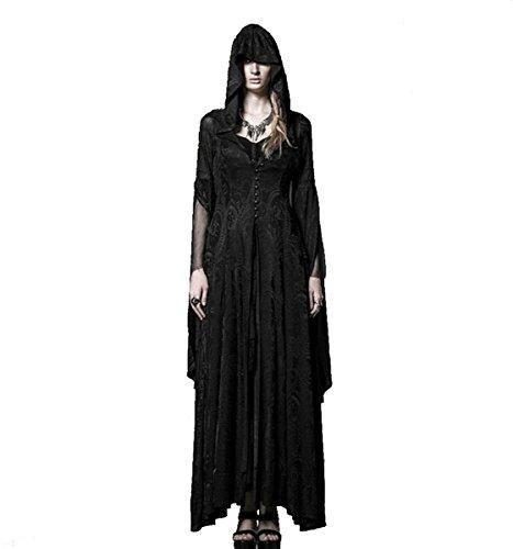 Dark Dreams Gothic Mittelalter Steampunk LARP Mantel - Kleid Myrium, Größe:XXL