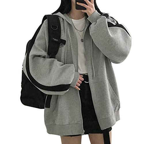 Kapuzenpullover Hoodie Neue Harajuku Hoodies Für Frauen Kleidung Kapuze Langarm Zlipper Pullover Kapuze Regular Coat Casual Korean Style SWE