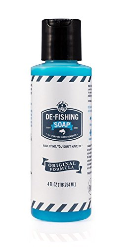 De-Fishing Soap All Natural and Biodegradable Liquid SOAP for Odor Removal-Multipurpose Great for Fishing, Camping or Cooking (3 Fluid Ounces)