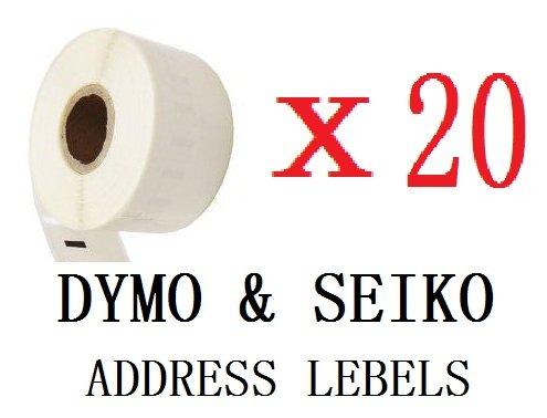 UCI 11354 [ 20 Roll ] Non OEM compatibile standard white indirizzo etichetta For DYMO and SEIKO etichetta stampante, 57*32mm 1000 etichetta per Roll, permanent glue, glassine backing, announcement and optimized For above model,