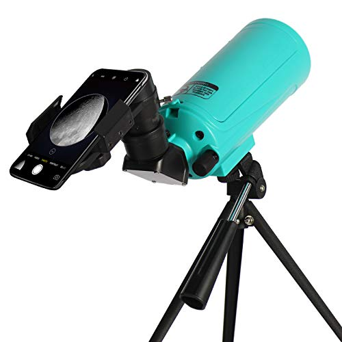 Maksutov-Cassegrain Telescope for Adults Kids Astronomy Beginners, Mak60 Reflector Telescope 750mm Focal Length with Tabletop Tripod Phone Adapter, Compact Portable, for Viewing the Moon Planets Stars