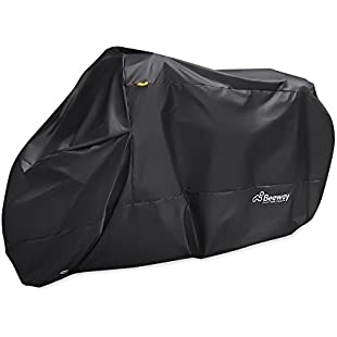 Customer reviews Motorbike Cover, Beeway® 190T Nylon Waterproof Motorcycle Cover - Anti Dust Rain UV Indoor Outdoor Protection with Lock-holes Storage Bag - Extra Large 240cm