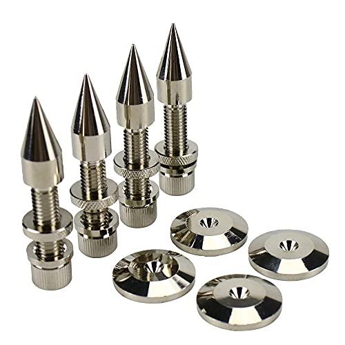 Wnuanjun 4 Sätze M8 * 60mm Lautsprecher Spikes Ständer Füße Pad Kupfer Audio Subwoofer Lautsprecher Höhe: 60mm