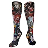 Snanna Michael Myers Cotton Socks Casual No Show Socks Athletic Socks With Non-Slip For Men And Women