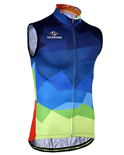 SIILENYOND Unisex Summer Bicycle Clothings MTB Bike Sleeveless Cycling Jersey Breathable Quick Dry of Ride Racing Clothes for Cyclist B-XS