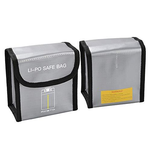 Voor DJI Mavic Mini Drone Lipo Safe Bag, Colorful Lipo Guard Liposack tas vuurvast veiligheidszak brandwerende tas Lipotas vuurvast brandvertragend Safebag geschikt voor DJI Mavic Mini Medium grijs