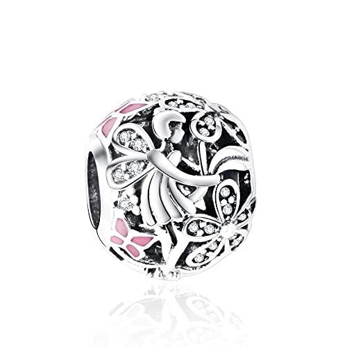 LIIHVYI Pandora Charms para Mujeres Cuentas Plata De Ley 925 Dazzling Daisy Fairy Bien Compatible con Pulseras Europeos Collars