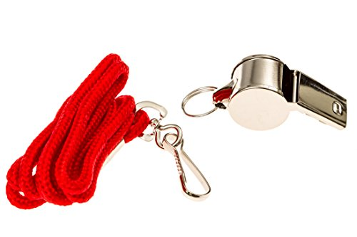 BLARIX Lifeguard Metal Whistle Best Whistles for Coach Referee (Metal and Red)