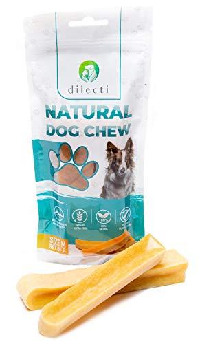 Prodotti da masticare naturali per cani - delizia per cani di lunga durata e molto gustosa! Gli snack per cani sono senza OGM o glutine, gli snack per cani sono inodori! (set da 2, taglia M)