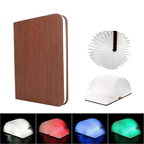 LED boeklicht hout nachtlampje 5W 500LM batterij aangedreven deformable Bedside lamp praktische mooie verlichting voor binnen en buiten (vier kleuren licht)