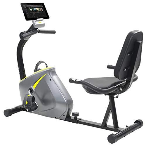 Festnight- Cyclette Reclinata con Movimento di Massa Rotante da 5 kg