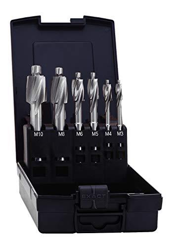Exact Flachsenker Set für Kernloch, M3/M4/M5/M6/M8/M10/M12, HSS, DIN373
