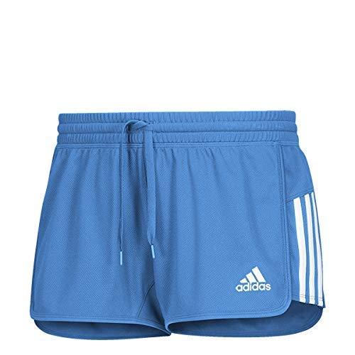 adidas Training 3 Stripes Knit Short Corto, Mujer, Azul Claro/Blanco, 4XL