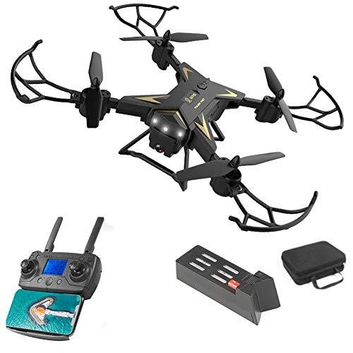 Koet RC Drohne mit Kamera, WLAN, HD, FPV, faltbar, RC Quadcopter, 4 Kanäle, LED-Licht, Höhenhaltung, faltbare FPV-Drohnen, nicht null, Schwarz , 4