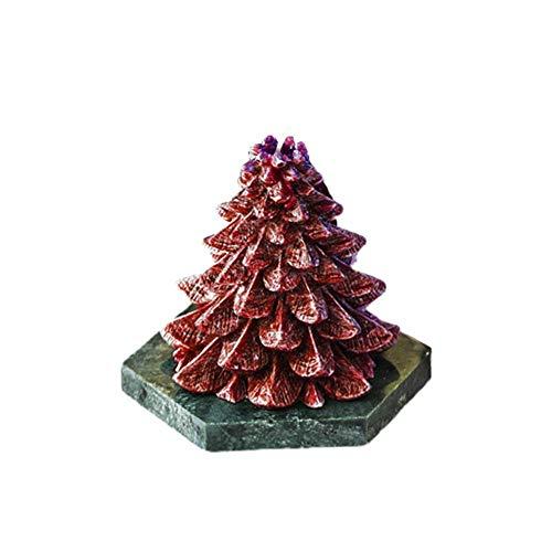 Velas Aromáticas Árbol de Navidad nórdico Vela perfumada Casa Simple Decoración de la Fragancia Dormitorio Dormitorio Mesa de Comedor Candlelight For Decoration (Color : A)
