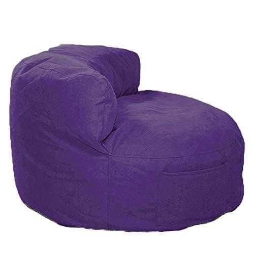 LDIW Sitzsack Bezug (ohne Füllung), Weicher und Bequemer Sitzsackhülle für Erwachsene und Kinder 55x85x35cm,Lila