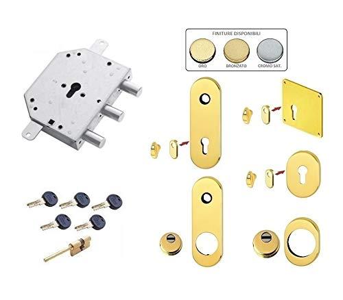 Kit de cerradura para puerta blindada de cilindro europeo Kaba Matrix para puertas torterol y rey CR DOM