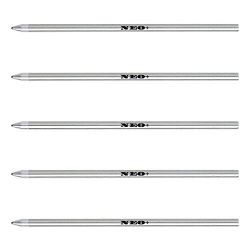 Lote de 5 recambios de tinta para bolígrafos de tamaño micro mini Recambios de bolígrafo compatible con: bolígrafos Swarovski, Cross, Cartier, Lamy, Faber Castell, Zebra, Tombow, Schneider, Schmidt, Parker, Pelikan, Monteverde y OHTO (5 x TINTA NEGRA)