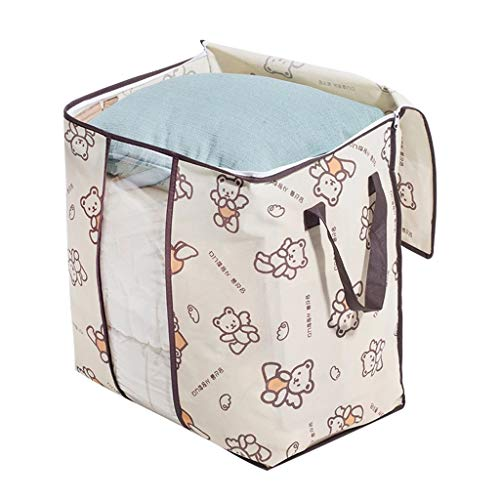 SMEJS Non-Woven Family Save Space Bed Under Closet Storage Box Clothes Divider Organiser Quilt Bag Holder Organizer (Color : B)