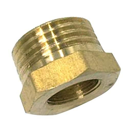 P Prettyia Rohrmuffe Rohrverbinder Gewindeverbinder Messingfitting, 1/2 Zoll Außen Gewindeanschluss & 3er Innengewinde - 1/4 Zoll