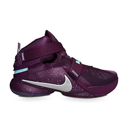 Nike Lebron Soldier IX Flyease para hombre, color morado y turquesa