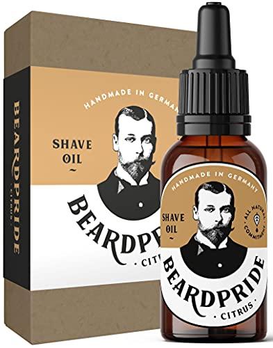 BEARDPRIDE Natürliches Rasieröl Herren - Shaving Oil Citrus - Rasierpflege Öl für die gepflegte Rasur für Männer - 100% naturreine Öle - 30ml