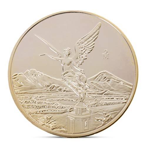 wuhan HANGZHI Estatua de la Libertad Mexicana Moneda Conmemorativa Colección de Arte de Recuerdos chapados en Oro
