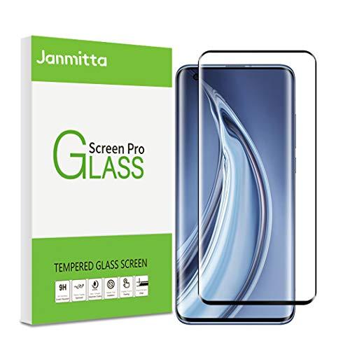 Janmitta Cristal Templado para Xiaomi Mi 10/Xiaomi Mi 10 Pro 5G Protector de Pantalla, 3D Round Edge, [9H Dureza] [Alta Definicion] Tempered Glass Film para Xiaomi Mi 10 Pro 5G (Negro)